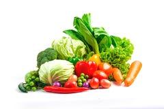 Τα λαχανικά συλλογής απομόνωσαν το άσπρο υπόβαθρο Στοκ φωτογραφία με δικαίωμα ελεύθερης χρήσης