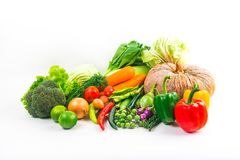 Τα λαχανικά συλλογής απομόνωσαν το άσπρο υπόβαθρο Στοκ Εικόνα