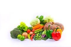 Τα λαχανικά συλλογής απομόνωσαν το άσπρο υπόβαθρο Στοκ εικόνα με δικαίωμα ελεύθερης χρήσης