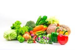 Τα λαχανικά συλλογής απομόνωσαν το άσπρο υπόβαθρο Στοκ Φωτογραφία