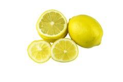 Τα λεμόνια, απομονώνουν στο άσπρο υπόβαθρο Στοκ φωτογραφία με δικαίωμα ελεύθερης χρήσης
