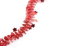 τα λεπτομερή ευρέα σύνορα Χριστουγέννων γιρλαντών Χριστουγέννων με τους κλάδους έλατου είναι Στοκ Φωτογραφία