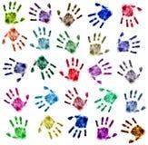 τα λεπτομερή χέρια τυπώνουν πολύ Στοκ Φωτογραφία