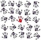 τα λεπτομερή χέρια τυπώνο&ups Στοκ φωτογραφία με δικαίωμα ελεύθερης χρήσης