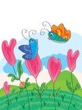 Τα λουλούδια αγάπης εκφράζουν Love_eps ελεύθερη απεικόνιση δικαιώματος