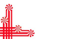 Τα λωρίδες καραμελών και peppermint η καραμέλα κάνουν τα γραφικά σύνορα Χριστουγέννων και τα στοιχεία για διακοπές το σχεδιάγραμμ στοκ φωτογραφία με δικαίωμα ελεύθερης χρήσης