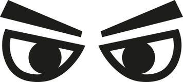Τα μάτιαα κοιτάζουν διανυσματική απεικόνιση