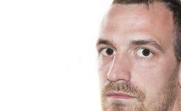 Τα μάτια κλείνουν επάνω το πρόσωπο Στοκ φωτογραφία με δικαίωμα ελεύθερης χρήσης