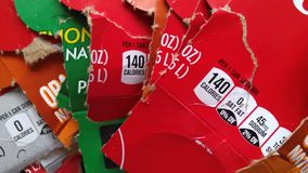 Τα μέρη της κάρτας ποτών ` επιβιβάζονται στα κιβώτια, ΗΠΑ Ð « Στοκ Φωτογραφίες