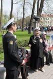 Τα μέλη του συνόλου παίζουν το ακκορντέον Kronstadt Kronstadt Στοκ φωτογραφία με δικαίωμα ελεύθερης χρήσης