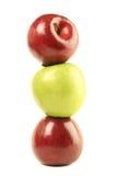 τα μήλα απομόνωσαν τρία Στοκ εικόνες με δικαίωμα ελεύθερης χρήσης