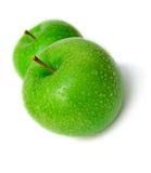 τα μήλα απομόνωσαν υγρό Στοκ Εικόνες