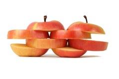 τα μήλα τεμάχισαν δύο Στοκ φωτογραφία με δικαίωμα ελεύθερης χρήσης