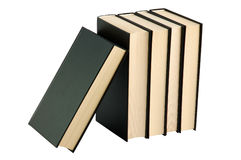τα μαύρα βιβλία έκλεισαν πέ&n Στοκ φωτογραφία με δικαίωμα ελεύθερης χρήσης