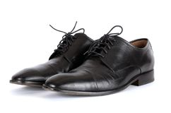 Τα μαύρα παπούτσια Στοκ εικόνα με δικαίωμα ελεύθερης χρήσης