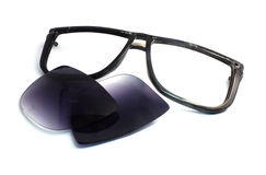 Τα μαύρα παλαιά γυαλιά ηλίου είναι αποφασιστικά Στοκ εικόνες με δικαίωμα ελεύθερης χρήσης