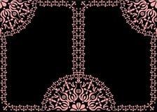 τα μαύρα πλαίσια διακοσμή&si διανυσματική απεικόνιση