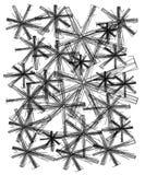 τα μαύρα doodles μελανώνουν τις &sig Στοκ Φωτογραφία