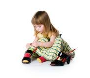 τα μεγάλα μικρά παπούτσια &kapp Στοκ Φωτογραφίες