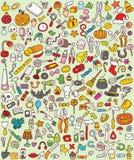 Μεγάλα εικονίδια Doodle καθορισμένα Στοκ Εικόνες