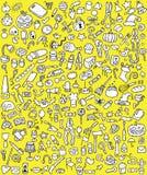 Μεγάλα εικονίδια Doodle καθορισμένα Στοκ Εικόνα