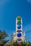 Τα μεγάλα ζωηρόχρωμα ferris κυλούν, πάρκο Tibidabo, Βαρκελώνη, Καταλωνία, Ισπανία Στοκ φωτογραφίες με δικαίωμα ελεύθερης χρήσης