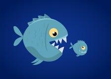 Τα μεγάλα ψάρια τρώνε τα μικρά ψάρια Στοκ εικόνα με δικαίωμα ελεύθερης χρήσης