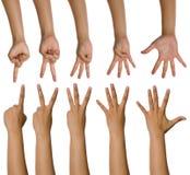 τα μετρώντας χέρια που τίθ&epsilo Στοκ φωτογραφία με δικαίωμα ελεύθερης χρήσης