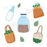 Τα μηά απόβλητα, επαναχρησιμοποίηση και πλαστικό μειώνουν την έννοια στο επίπεδο ύφος απεικόνιση αποθεμάτων