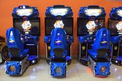 Τα μηχανήματα τυχερών παιχνιδιών με κέρματα τυχερού παιχνιδιού στην ψυχαγωγία Ñ  εισάγονται, Κίεβο, Ουκρανία Στοκ Εικόνα