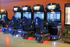 Τα μηχανήματα τυχερών παιχνιδιών με κέρματα τυχερού παιχνιδιού στην ψυχαγωγία Ñ  εισάγονται, Κίεβο, Ουκρανία Στοκ εικόνα με δικαίωμα ελεύθερης χρήσης
