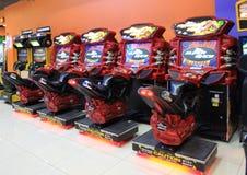 Τα μηχανήματα τυχερών παιχνιδιών με κέρματα τυχερού παιχνιδιού στην ψυχαγωγία Ñ  εισάγονται, Κίεβο, Ουκρανία Στοκ εικόνες με δικαίωμα ελεύθερης χρήσης