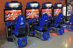Τα μηχανήματα τυχερών παιχνιδιών με κέρματα τυχερού παιχνιδιού στην ψυχαγωγία Ñ  εισάγονται, Κίεβο, Ουκρανία Στοκ φωτογραφίες με δικαίωμα ελεύθερης χρήσης
