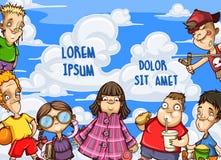 Τα μικρά παιδιά βρίσκονται στην άκρη της εικόνας Στοκ φωτογραφίες με δικαίωμα ελεύθερης χρήσης