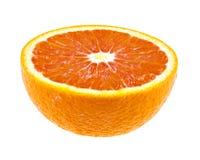 Τα μισά από τα juicy πορτοκαλιά φρούτα που απομονώνεται στο λευκό Στοκ φωτογραφία με δικαίωμα ελεύθερης χρήσης