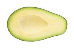 Τα μισά από φρούτα avacado που απομονώνονται Στοκ εικόνα με δικαίωμα ελεύθερης χρήσης