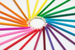 τα μολύβια χρώματος που τίθενται τον ήλιο μορφής Στοκ εικόνες με δικαίωμα ελεύθερης χρήσης