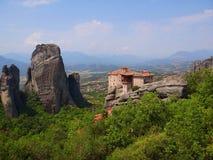 Τα μοναστήρια Meteora, Ελλάδα Στοκ φωτογραφία με δικαίωμα ελεύθερης χρήσης