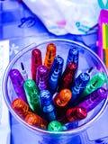 τα μολύβια σχεδιάζουν το ζωηρόχρωμο ύφος Ταϊλάνδη Στοκ Φωτογραφίες