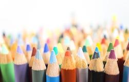 Τα μολύβια χρώματος, κλείνουν επάνω Στοκ Εικόνα