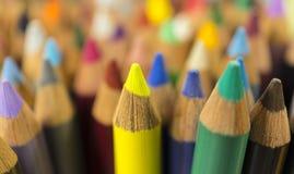 Τα μολύβια χρώματος, κλείνουν επάνω Στοκ Εικόνες