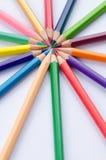 Τα μολύβια χρώματος τακτοποιούν μέσα Στοκ Φωτογραφία