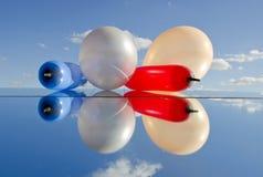 τα μπαλόνια αντανακλούν δ&iot Στοκ φωτογραφίες με δικαίωμα ελεύθερης χρήσης