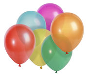 τα μπαλόνια απομόνωσαν το λευκό στοκ εικόνα