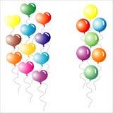 τα μπαλόνια χρωμάτισαν πολυ Στοκ Φωτογραφίες