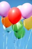τα μπαλόνια χρωμάτισαν πολ&l Στοκ Φωτογραφία