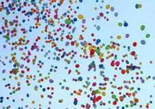 τα μπαλόνια χρωμάτισαν πολ&u Στοκ εικόνα με δικαίωμα ελεύθερης χρήσης