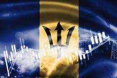Τα Μπαρμπάντος σημαιοστολίζουν, χρηματιστήριο, οικονομία ανταλλαγής και εμπόριο, παραγωγή πετρελαίου, σκάφος εμπορευματοκιβωτίων  ελεύθερη απεικόνιση δικαιώματος