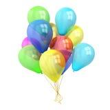 τα μπαλόνια ανασκόπησης συσσωρεύουν το ζωηρόχρωμο λευκό Στοκ φωτογραφία με δικαίωμα ελεύθερης χρήσης