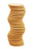 τα μπισκότα λογαριάζουν την υψηλή στοίβα Στοκ Εικόνες